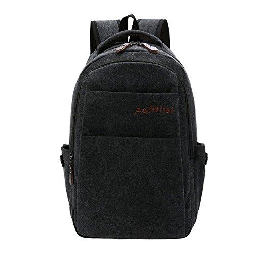 KYFW Beiläufiger Art-Segeltuch-Laptop-Rucksack-Schule-Beutel-Spielraum-Tagesbeutel-Handtasche,D-32*15*43cm-20-35L D-32*15*43cm-20-35L