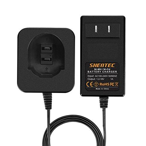 Shentec 1.2V-18V Charger for Dewalt Ni-MH / Ni-Cd Pod Style 7.2V 9.6V 12V 14.4V 18V Batteries, DW9057 DW9061 DW9071 DW9038 DW9096