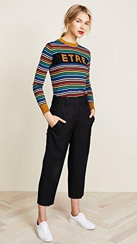 Etre Cecile Women's Etre Boyfriend Crew Knit Sweater, Multi Stripe, Large by Etre Cecile (Image #5)