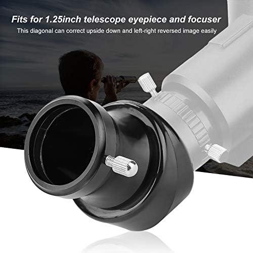 Pomya Telescope Eyepiece Set Telescope Accessory Set,1.25 inch 45-Degree 31.7mm Erect Image Diagonal Mirror Astronomical Telescope Eyepiece Accessory