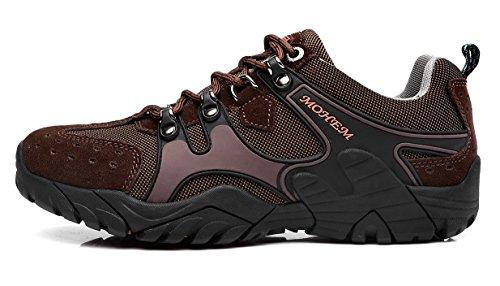 Mohem Titans Casual Trail Sneakers Outdoor Wandelschoenen Voor Heren Donkerbruin