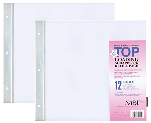 "2-PACK - MBI 12"" x 12"" Scrapbook Expansion Pages, 6sht (12 pages)"