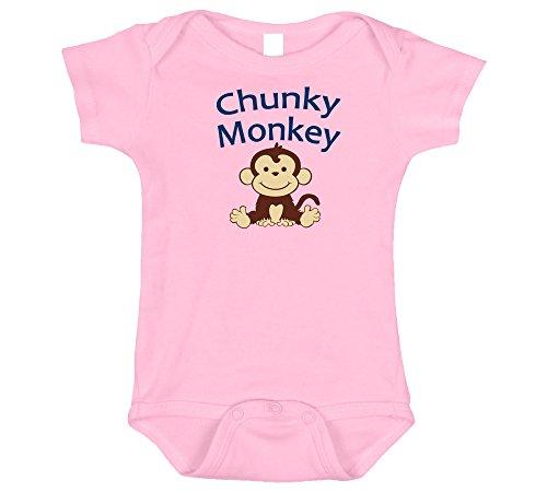 Chunky Monkey, Cute Onesie Girl, Pink 0-3 - Monkey Mo