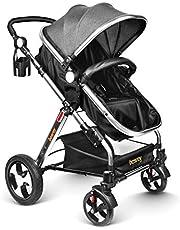 besrey Silla de Paseo Cochecito para Bebé Carrito Baby Jogger Carriage Aprobado prueba de seguridad EN1888: 2012