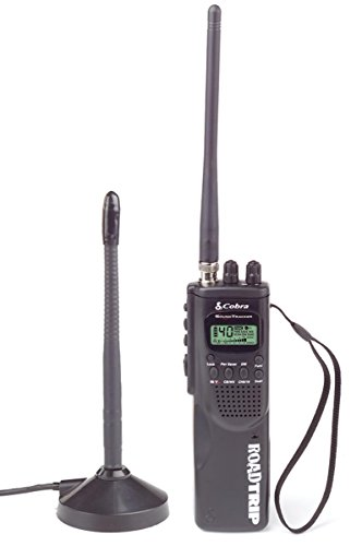 HH ROAD TRIP Hand Held 40 Channel CB Radio with Mobile Antenna, 10 Weather Channels and Soundtracker Noise Reduction