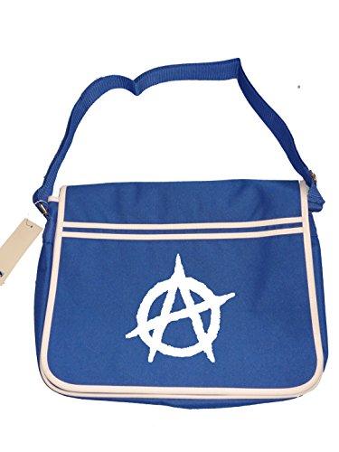 Men's Blue Messenger Retro Anti ANARCHY Bag icon establishment Shoulder Symbol zgPwU7HqUS