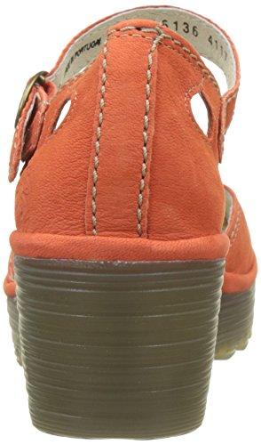 Col Donna Poppy Tacco Orange Fly Scarpe Punta Chiusa Yuna Arancione London x0qxTzwtA