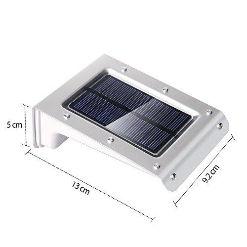 Modern Bright Durable Round Body Sensor Voice Contrl Light: RioRand® 20 LED Bright Solar Powered Motion Sensor Light