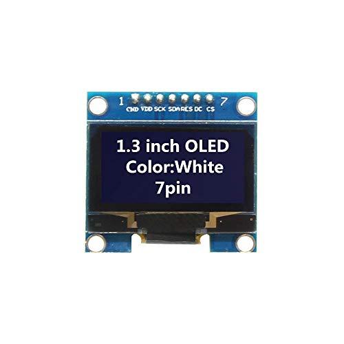 1.3インチOLEDモジュールホワイトカラー128×64 7ピンOLED液晶ledディスプレイモジュール1.3 spi通信用arduino diyキットホワイト