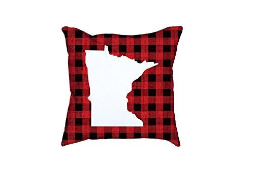 Minnesota Plaid Pillow | Minnesota Throw Pillow | Minnesota Decor | Minnesota Pillow | Buffalo Plaid | Buffalo Check | Plaid Throw ()