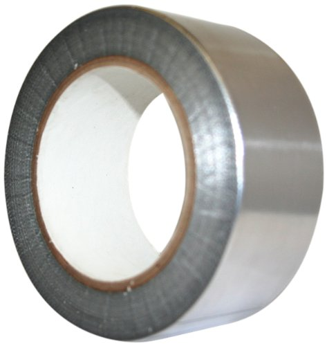 Maxi 1956ALG Aluminum Foil Heavy Duty HVOF Tape with Silicone Adhesive, 6.6 mil Thick, 36 yds Length, 1'' Width, Silver