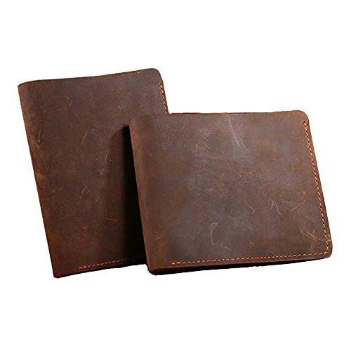 Brieftasche Männer verrückte Pferd Leder Männer Geldbörsen Leder Geldbörse männlich Clutch Geld Tasche