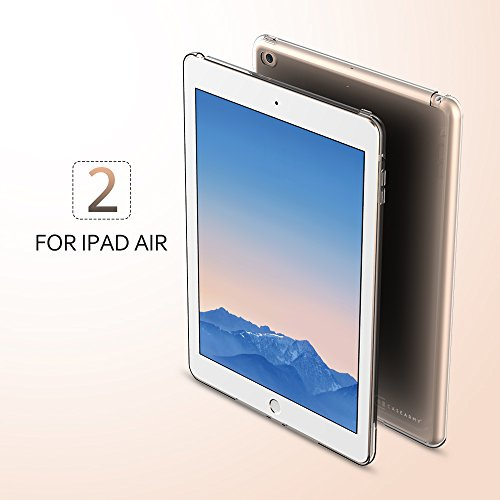 Case Army iPad Air 2 | Air II [Two] Clear Case [Manifest] Scratch-Resistant Slim Clear Case for Apple iPad Air 2 | iPad Air [TWO] Soft Flexible Silicone Crystal Clear Cover with TPU Bumper (Apple Ipad Air Clear Case)