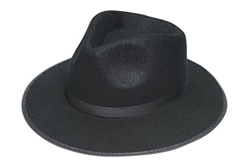 [Jacobson Hat Company Men's Permalux Gangster Hat, Black, Adult Large] (20s Gangster Adult Costumes)