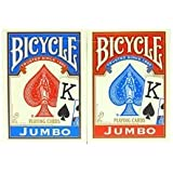 Bicycle Poker Standard Size Jumbo Face Index Playing Cards Blue and RED Color
