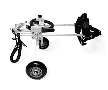 Silla de ruedas para perros Scooter para perros viejos, perro discapacitado Asistido con patas traseras, automóvil deportivo Tamaño ajustable libremente ...
