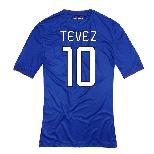 2014-15 Juventus Away Shirt (Tevez 10) B077V9NB29Blue Small 34-36\