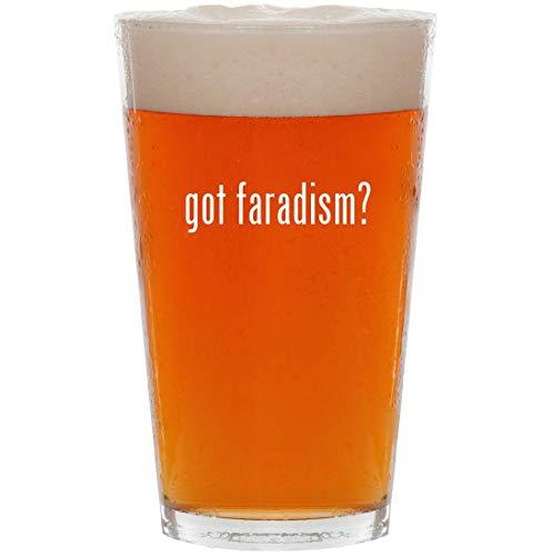 got faradism? - 16oz All Purpose Pint Beer Glass ()