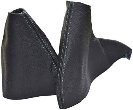 Gear /& cuffia leva freno a mano nero in pelle italiana