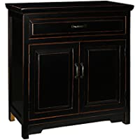 Antique Revival PL Home Nightstand with Wide Drawer, Small, Black