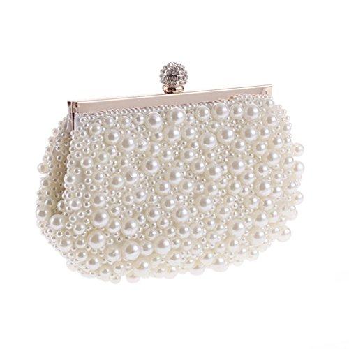 willtop imitation perles fait main fermoir Strass Brillant Soirée Embrayage Sac à Main