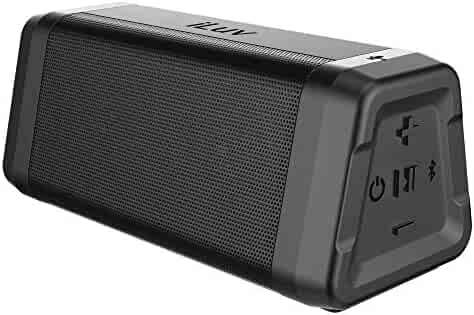 iLuv Audmini Plus Premium Bluetooth Speaker with Powerful HD Sound, Full Bluetooth Range, IPX5 Water Resistance, Deep Bass, Portable Wireless Speaker for iPhone, Samsung, Echo Dot and Echo