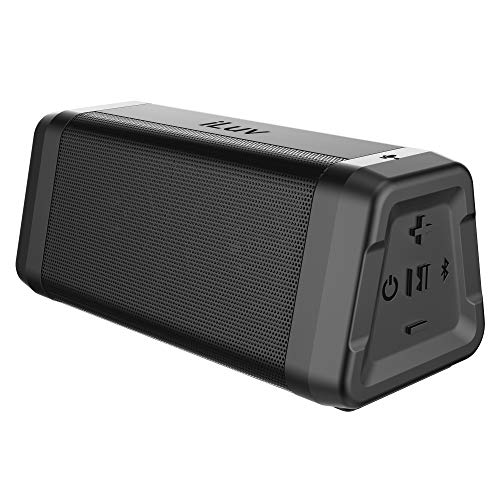 iLuv Audmini Plus V4.2 Bluetooth Speaker with Powerful HD Sound, Full Bluetooth Range, IPX5 Water Resistance, Deep Bass, Portable Wireless Speaker for iPhone, Samsung, Echo Dot and More