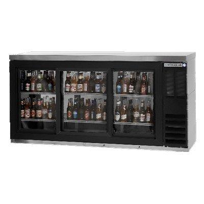 Beverage-Air BB72GSY-1-B-27 72″ Black Three-Section Undercounter Back Bar Refrig