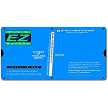 """E-Z Grader. 7200 Large Print, Educational Grading Chart, Computes Percentage Scores Up to 70 Questions, 10"""" x 5"""", Royal Blue"""