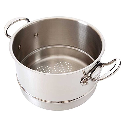 Mauviel Made In France M'Cook 5 Ply Stainless Steel 5221.24 9.5 Inch Steamer Insert, Cast Stainless Steel Handle by Mauviel
