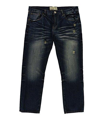 Ecko Unltd. Mens 711 Slim Fit Jeans, Blue, 32W x 30L