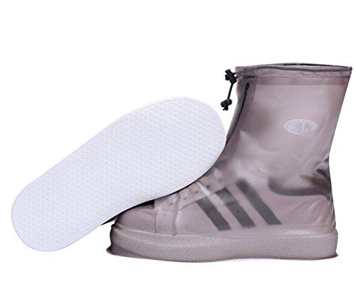 protezione donna per impermeabile pioggia da per Neutral copriscarpe antiscivolo protezione marrone scarpe ciclisti protezione CCZZ scarpe antipioggia scarpe uomo qZC4xn1