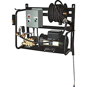 BE Pressure X-1520FW1COMH Electric Powered Pressure Washer, Wall Mounted, 1500PSI, 2 GPM, 2 hp, 110V