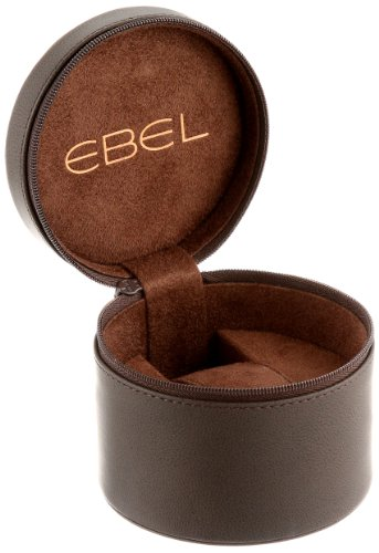 EBEL-Mens-1216088-Ebel-100-Stainless-Steel-Automatic-Watch-with-Leather-Band