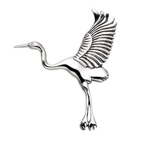 Wild Things Sterling Silver Flying Heron Pin