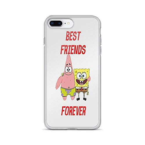 iPhone 7 Plus/iPhone 8 Plus Case Cases Clear Anti-Scratch Patrick & Spongebob Best Friends Forever, Patrick Cover Case for iPhone 7 Plus, iPhone 8 Plus