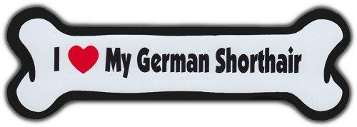 Dog Bone Magnet: I LOVE MY GERMAN SHORTHAIR | Dogs Doggy | Short Hair (German Shorthair Magnet)