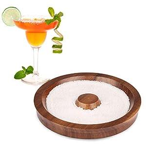 TMKEFFC Rimmer Vetro Cocktail Piatto di Sale in Legno per l'aggiunta di Sale e Zucchero a Cocktail, Margarita, Bevande… 1 spesavip