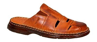 Mens Orthopedic Form Buffalo Leather Sandals Model-863