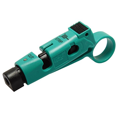 CP-507 Coaxial Cable Stripper/Cutter for RG-59, RG-6 Coaxial Cable Wire Stripper Tool 111mm Length by Tpmall
