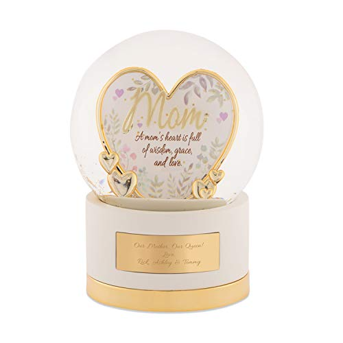 Things Remembered Personalized Gold Mom Heart Snow Globe with Engraving Included