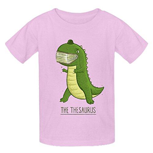The Thesaurus Girls Crew Neck Short Sleeve T Shirts Pink