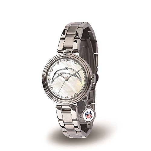 Logo Watch San Diego Chargers - NFL San Diego Chargers Charm Watch, Silver