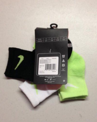 Nike Boys 3 Pair Quarter Socks Size 5-6 (Nike Costumes Shoes)