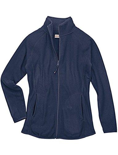 (White Cross Polar Fleece Zip Jacket (Navy, Large))