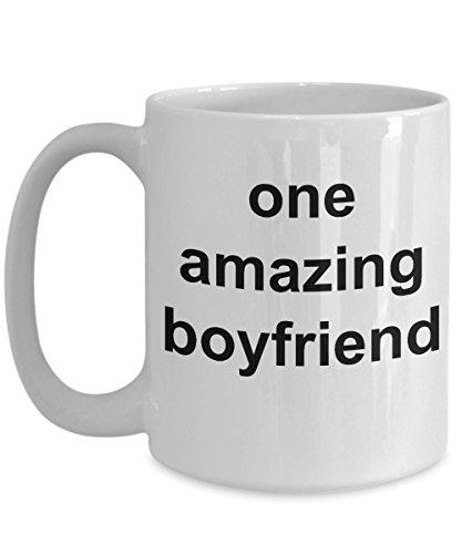 Gifts Fot Boyfriend - Cheesy 1 Month Anniversary Gifts For Boyfriend - 15 Oz White Coffee Mug - One Amazing Boyfriend (Best 1 Month Anniversary Gift)
