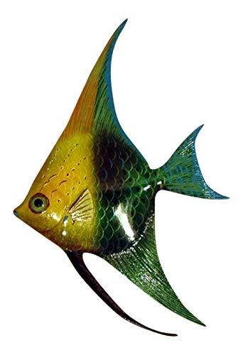 Tropical Bright Multi Yellow Green Angel Fish Hanger Bath Wall