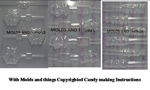 - Snowflake lolly chocolate candy mold Snowman Pretzel pop chocolate candy mold and Christmas Pretzel pop chocolate candy mold with Molding Instruction