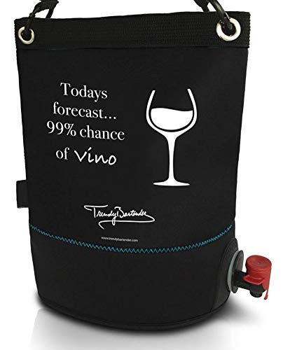 Wine Purse Cooler – BYOB Portable Wine Dispenser (0.8 Gallon/3 Liter) – Perfect Wine Bag For Party, Pool, Beach, and Travel – Insulated Tote Keeps Contents Chilled or Warm – ()