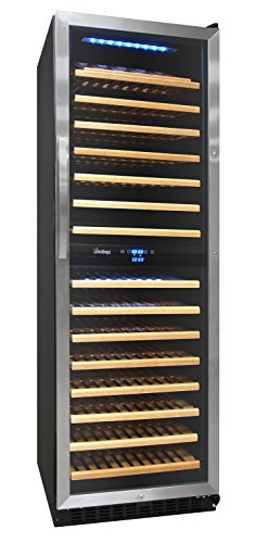 Vinotemp VNTVT-155SBW 155-Bottle Dual-Zone Wine Cooler